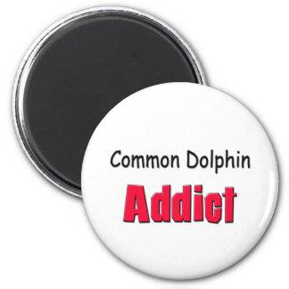 Common Dolphin Addict 2 Inch Round Magnet