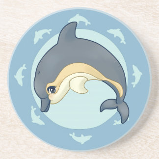 Common dolphin drink coaster