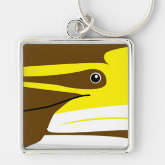 common dolphin keyring Silver-Colored square keychain