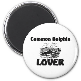 Common Dolphin Lover 2 Inch Round Magnet