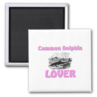 Common Dolphin Lover 2 Inch Square Magnet