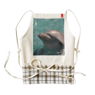 Common Dolphin Zazzle HEART Apron