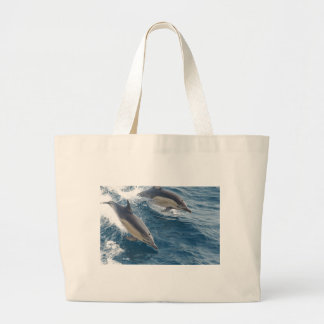 common-dolphins-914 large tote bag