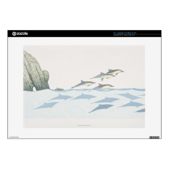 """Common Dolphins Decal For 15"""" Laptop"""