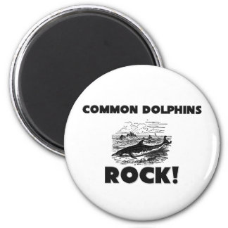Common Dolphins Rock 2 Inch Round Magnet