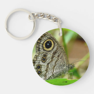 Common Fivering Satyrinae Butterfly Keychain