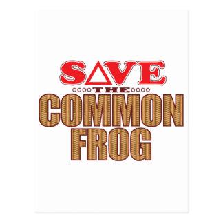 Common Frog Save Postcard