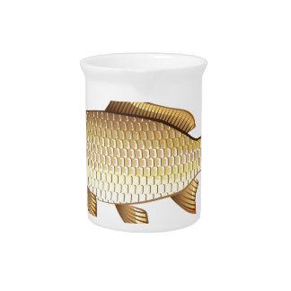 Common Golden Carp Vector Art Beverage Pitcher