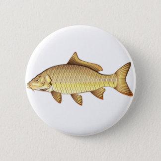 Common Golden Carp Vector Art Button