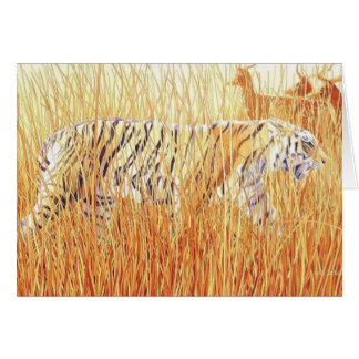 """""""Common Ground"""" Tiger in Grass Card"""