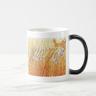 """Common Ground"" Tiger in Grass Watercolor Magic Mug"