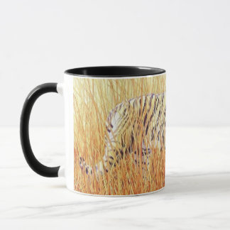 """Common Ground"" Tiger in Grass Watercolor Mug"
