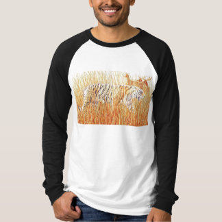 """""""Common Ground"""" Tiger in Grass Watercolor T-Shirt"""