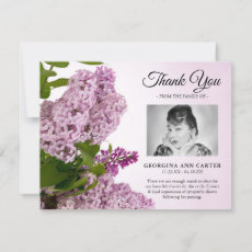 Common Lilac Floral Funeral Thank You Card