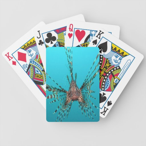Common lionfish freedom peace and joy poker deck