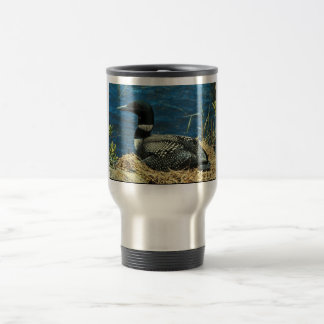 Common Loon 15 Oz Stainless Steel Travel Mug