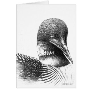 Common Loon Illustration Blank Greeting Card
