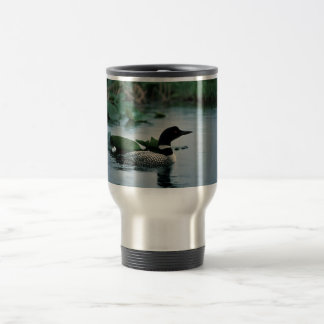 Common Loon on Water 15 Oz Stainless Steel Travel Mug