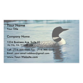 Common Loon on Water Double-Sided Standard Business Cards (Pack Of 100)