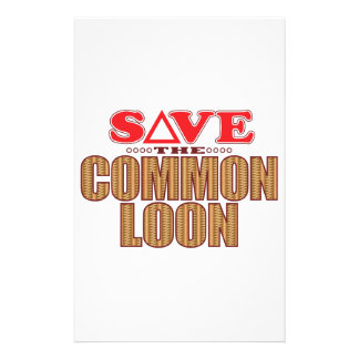 Common Loon Save Stationery
