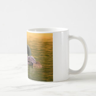 Common Loon with 2 Chicks Classic White Coffee Mug