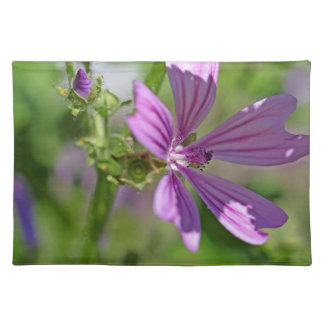 Common Mallow Flower Cloth Placemat