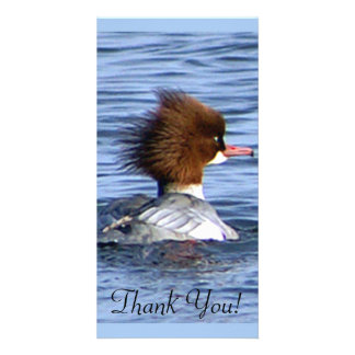 Common Merganser, With Its Magestic Crest Personalized Photo Card