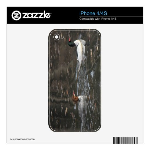 Common Mergansers Skins For The iPhone 4S