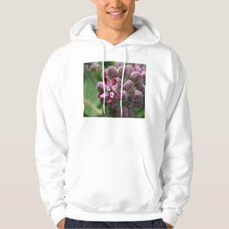 Common milkweed bud with leaves in background hoodie