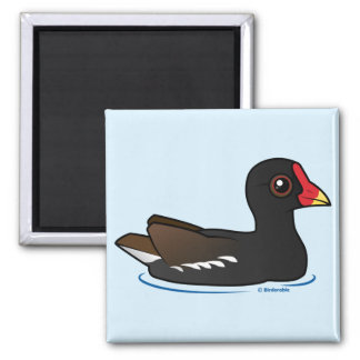 Common Moorhen 2 Inch Square Magnet