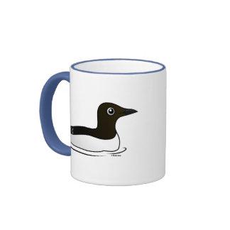 Common Murre (swimming) Ringer Coffee Mug