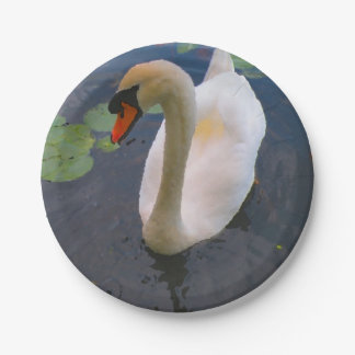 Common Mute Swan Paper Plates