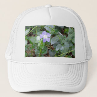 Common Periwinkle, Vinca Minor, on Roadside Trucker Hat