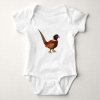 Common Pheasant Baby Jersey Bodysuit
