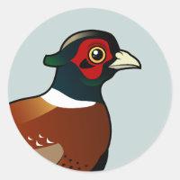 Common Pheasant Round Sticker