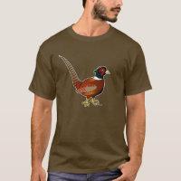 Common Pheasant Men's Basic Dark T-Shirt