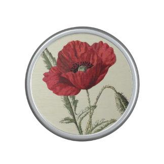 Common Poppy Vintage Botanical Illustration Bluetooth Speaker