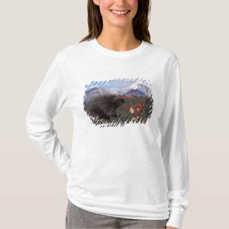 Common porcupine feeding on high brush cranberry T-Shirt