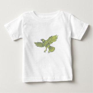 Common Raven Flying Mandala Baby T-Shirt