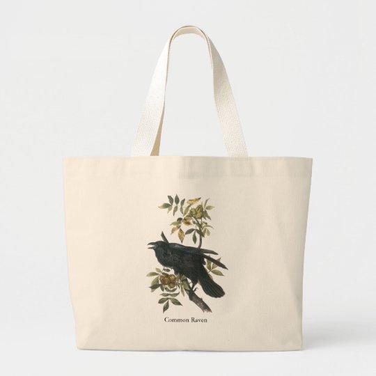 Common Raven, John audubon Large Tote Bag