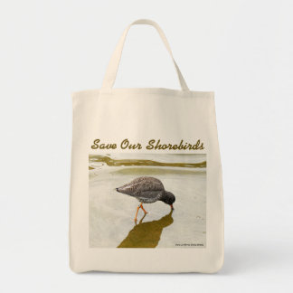 Common Redshank Grocery Bag by RoseWrites