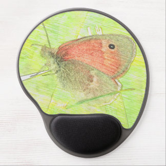 Common Ringlet Butterfly oval mousepad Gel Mouse Pad