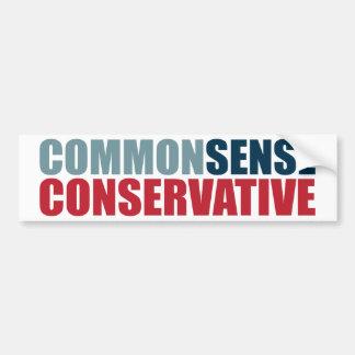 Common Sense Conservative Car Bumper Sticker