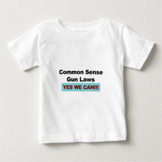 Common Sense Gun Laws - Yes We Can! Baby T-Shirt