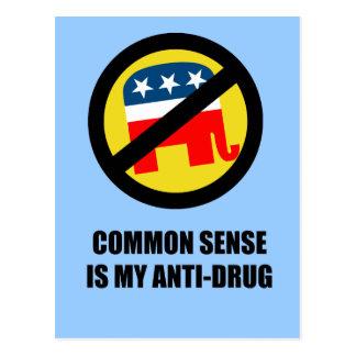 Common sense is my anti-drug postcard