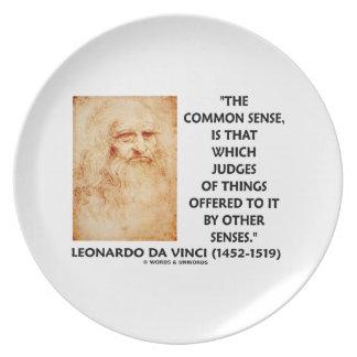Common Sense Judges Of Things Leonardo da Vinci Dinner Plate