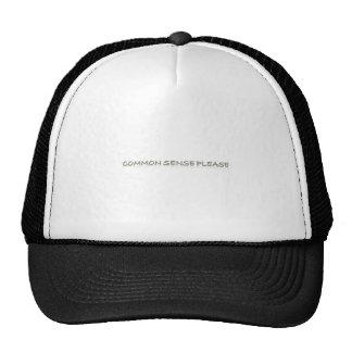 common sense please trucker hat
