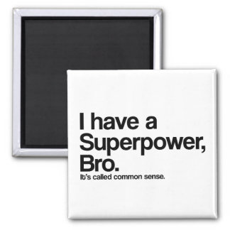 Common Sense Superpower Refrigerator Magnets