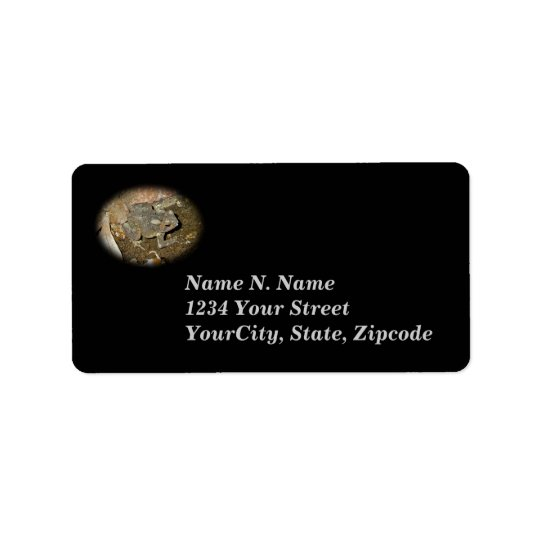Common Toad Coordinating Address Label