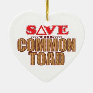Common Toad Save Ceramic Ornament